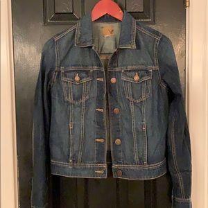 American Eagle denim jean jacket large
